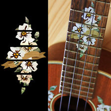 Hibiscus with Ribbon 10th Fret Marker for CONCERT Ukulele Inlay Sticker Decal