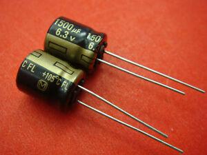 200pcs Panasonic 6.3V 1500UF Electrolytic Capacitor 10x12mm B2
