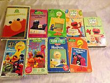 Sesame Street Elmo's World School Numbers Birthdays Elmopalooza VHS Lot Of 9