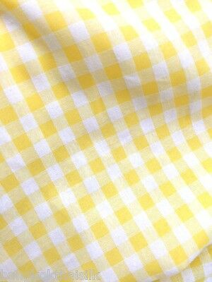 """LIGHT GRAY WHITE 1//3 CHECHERED BUFFALO GINGHAM COTTON BLEND FABRIC 44/""""W BTY"""
