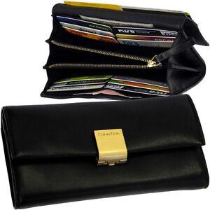 Calvin-Klein-Damen-Geldborse-Vintage-Portemonnaie-Leder-Geldbeutel-ck-Clutch-Neu
