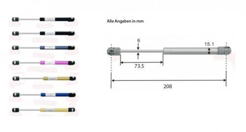 Gasdruckdämpfer Gasdruckfeder Gasfeder 208mm 150N blau 8180