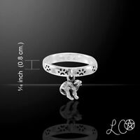 Laurie Cabot Cat Witches Familiar Pawprint .925 Sterling Silver Ring Peter Stone