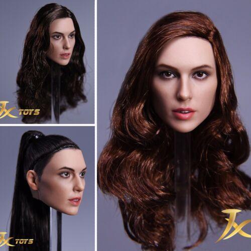JXtoys 1/6 Wonder Woman Gal Gadot Head Sculpt Girl Carved For 12'' Female Figure