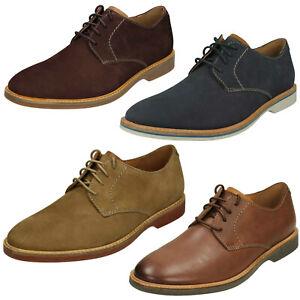 Detalles de Hombre Clarks Atticus Cordones Cuero Zapatos Elegantes con Cordones Ajuste G
