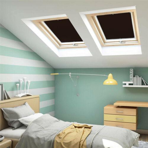 Dachfensterrollo Dunkelgrau Thermo Verdunkelung mit Sauger 98/%UV-Schutz Braun