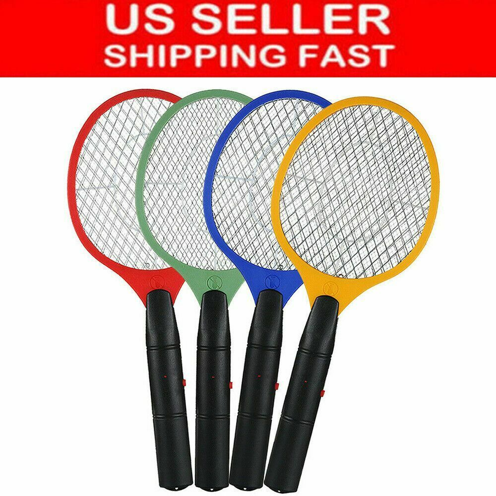 Electric Fly Insect Swatter Handheld Bug Mosquito Wasp Zapper Killer With