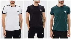 Kappa-Homme-a-manches-courtes-T-shirt-Casual-Taille-S-M-L-XL-bleu-noir