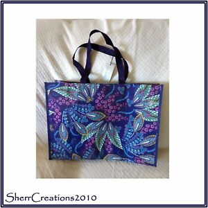 New Vera Bradley Market Tote Bag Shopper Reusable Recycled in Batik ... fb7f671241d72