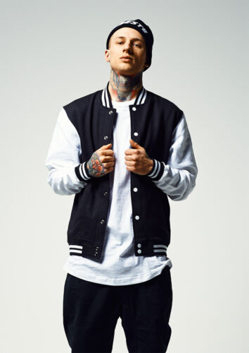 Giubbotto Felpa Over College tone Giacca Sweatjacket Urban 2 Classics Sizes Uomo qP1SSE