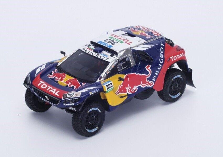 Peugeot 2008 DKR  303Sainz-Cruz Rallye Dakar  2016 (Spark 1 43   S4877)