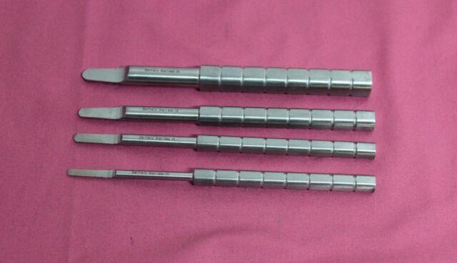 Set Of 4 Tatum D Shaped Bone Spreaders Dental Implant Instruments