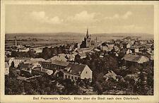 Bad Freienwalde Oder Ansichtskarte ~1910 Blick über die Stadt nach dem Oderbruch