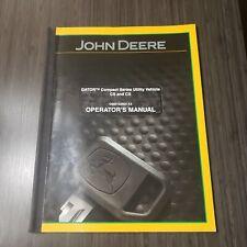 John Deere Cs And Cx Gator Utility Vehicle Operators Manual Omm150904