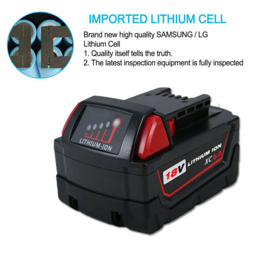 2X For Milwaukee M18 XC 6.0AH High Demand 48-11-1852 Rechargeable New Battery US