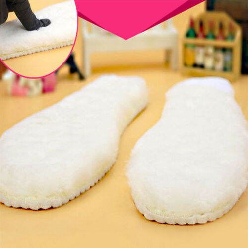 Sheepskin Insoles Soft Warm Winter Thick Inner Soles Sheep Wool Shoes Boot PadS