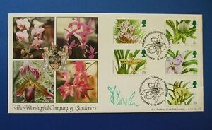 A G BRADBURY 1993 ORCHIDS OFFICIAL FIRST DAY COVER SIGNED BY DAVID E DOWLEN