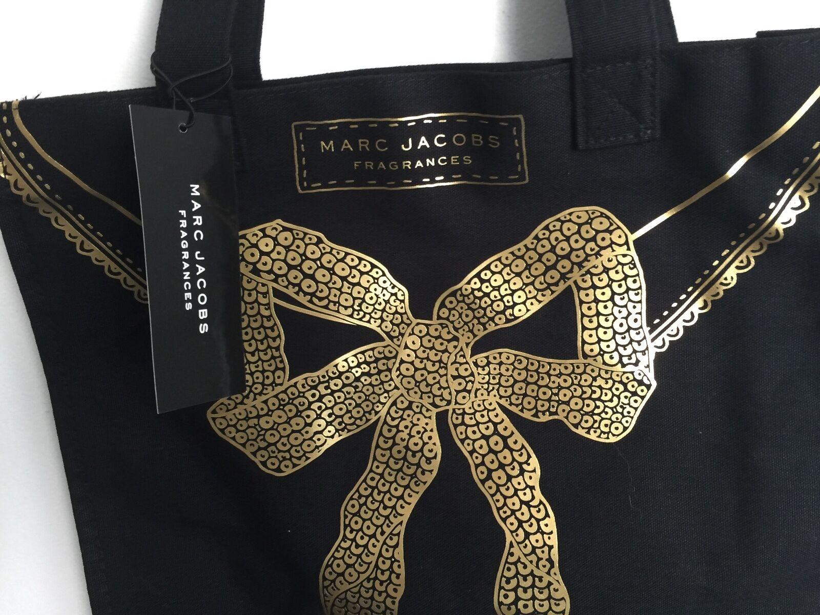 3c1a8f5618 Marc Jacobs Fragrances Women Tote Bag Black Canvas Gold Bow Handbag ...