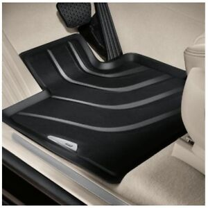 Genuine Front Black All Weather Rubber Floor Mats Set for BMW F25 F26 X3 X4
