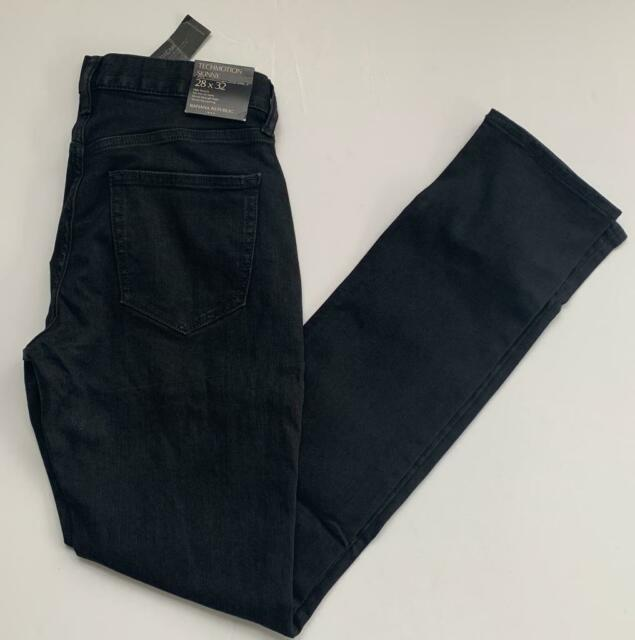 Banana Republic Techmotion Skinny 28 x 32 Black Wash Stretch Colored Denim Jeans