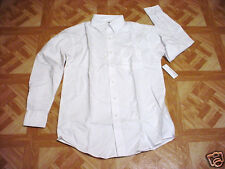 George Men's & Boys White School Uniform to Oxford LS Dress Shirt XS 30-32