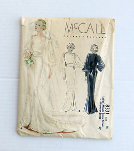 Vintage-1930s-McCalls-Elegant-Bridal-Gown-or-Afternoon-Dress-Pattern-Draped-34