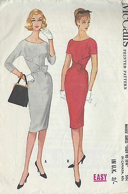 1960 Vintage Sewing Pattern B36 WIGGLE DRESS (R912)
