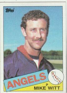 FREE-SHIPPING-MINT-1985-Topps-309-Mike-Witt-Angels-PLUS-BONUS-CARDS
