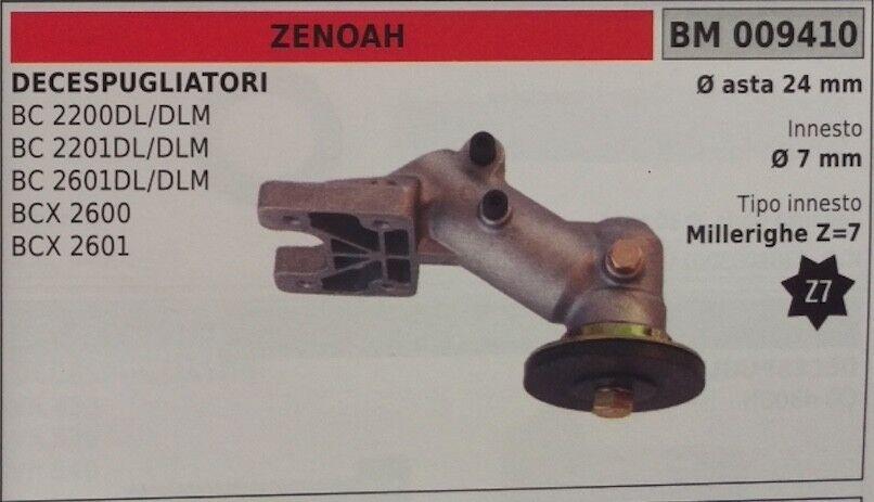 COPPIA CONICA DECESPUGLIATORE ZEONAH BCX 2600 2601 ASTA Ø24 MILLERIGHE Z7