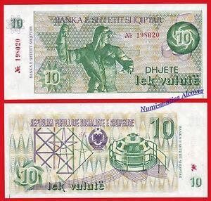 Albanie 10 Lek Valute 1992 Série 49a Sc / Unc Adunr2q4-07222419-529053438