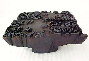 Hand-Carved-Primitive-Ebony-Wood-Printing-Block