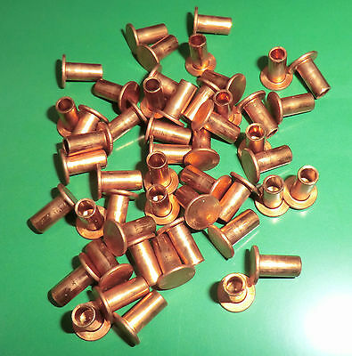 50 Stück Bequemes GefüHl Bremsbelagnieten Kupfernieten Halbhohl 4x12 Din 7338 B