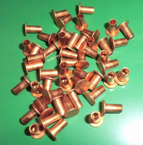 50 Stück Bremsbelagnieten Kupfernieten halbhohl 3x12 DIN 7338 B
