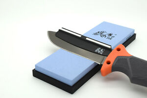 Genuine Blue 240px Wet Stone With Ceramic Sharpening Guide Bushcraft  Survival - Hastings, United Kingdom - Genuine Blue 240px Wet Stone With Ceramic Sharpening Guide Bushcraft  Survival - Hastings, United Kingdom