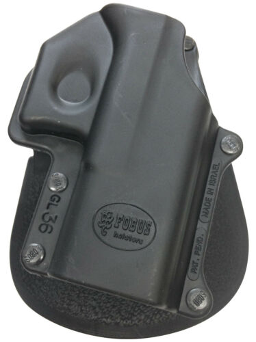 Fobus GL36 Right Hand Tactical Black Paddle Holster For Glock 36 New Design!!!