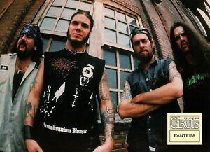 PANTERA-MAGAZINE-PINUP-PAGE-vtg-90s-Dimebag-Darrell-Phil-Anselmo-Metal-Band