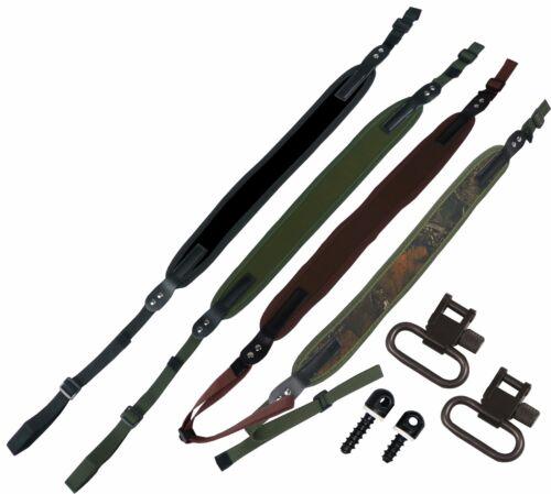Néoprène Rifle fusil de chasse sling sangle clous à vis bois chasse pistolet à air émerillons