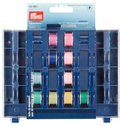 Prym 611980 Bobbin box for 32 sewing machine bobbins