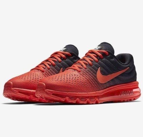 Nike Air Max 2017 Bright Crimson Size 12-15 Black Total Crimson 849559-600