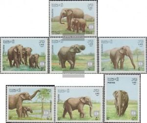 Laos-1026-1032-kompl-Ausg-postfrisch-1987-Elefanten