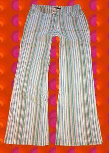 243-40-groovy-Streifenhose-60er-70er-Jahre-Hippie-Schlager-Festival-blau-gruen