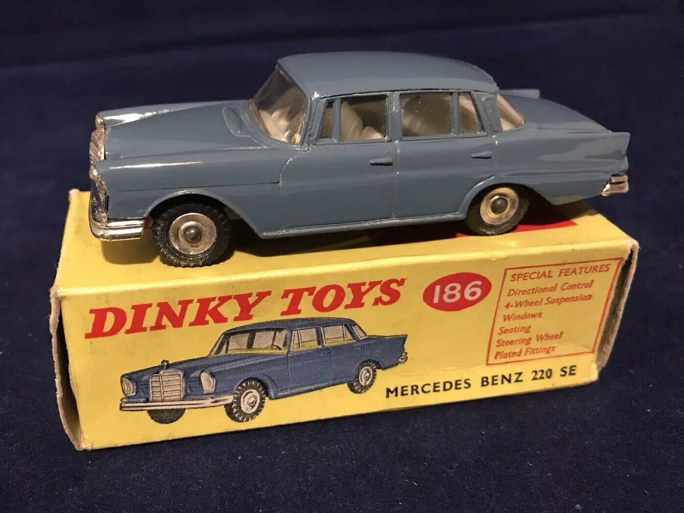 apresurado a ver Dinky 186 Mercedes Benz 220 se-Menta en Caja Original Original Original  tiendas minoristas