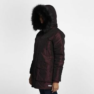 8bcffda838bc Image is loading CONVERSE-SIDELINE-DOWN-PUFFER-WOMENS-COAT -BURGUNDY-10004526-
