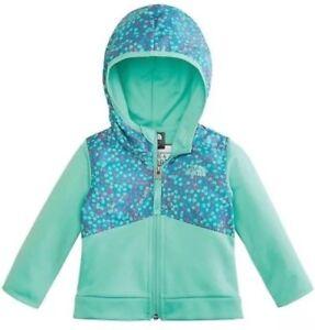 8cfd3df309d5 The North Face Kickin It Infant Zip Hoodie Jacket Bermuda Green 0-3M ...