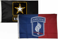 3x5 3'x5' Wholesale Combo Set Army Star & Airborne 173rd Flags Flag