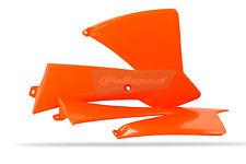 KTM Kühler Schaufeln/Abdeckungen KTM SX 65 2002-08 orange Polisport