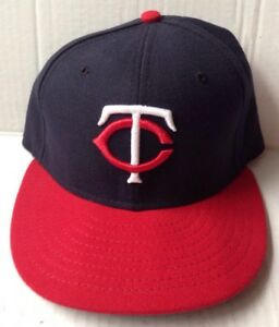 official photos c9bfc decc2 Image is loading MINNESOTA-TWINS-MAJOR-LEAGUE-BASEBALL-CAP-HAT-RED-