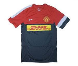 Manchester United 2012-13 originale camicia di formazione (eccellente) S Soccer Jersey
