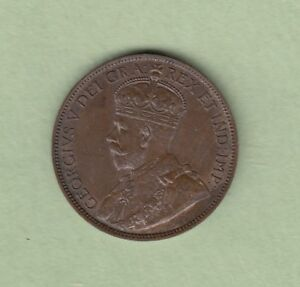 1918 Canadian Large One Cent Coin - AU