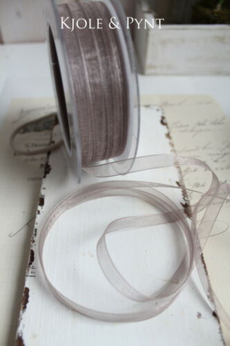 0,22 €//m Fine organzaband taupe 83 chiffonband 7 mm fixation mousseline